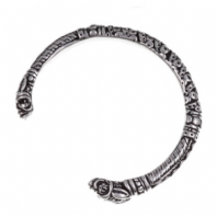 Pewter Twin Serpent Bangle